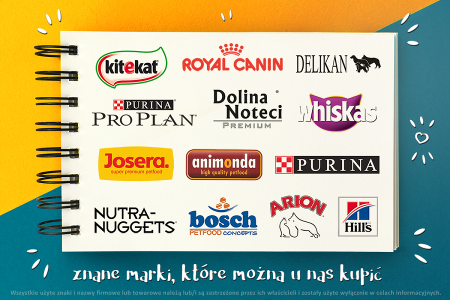 royal canin, animonda, arion, hill's, purina, pro plan,delikan, dolina noteci, josera, brit